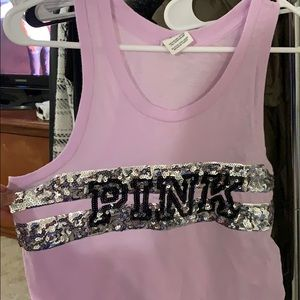 light purple tank top from pink